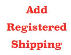 Image of REGISTERED SHIPPING (Einschreiben)