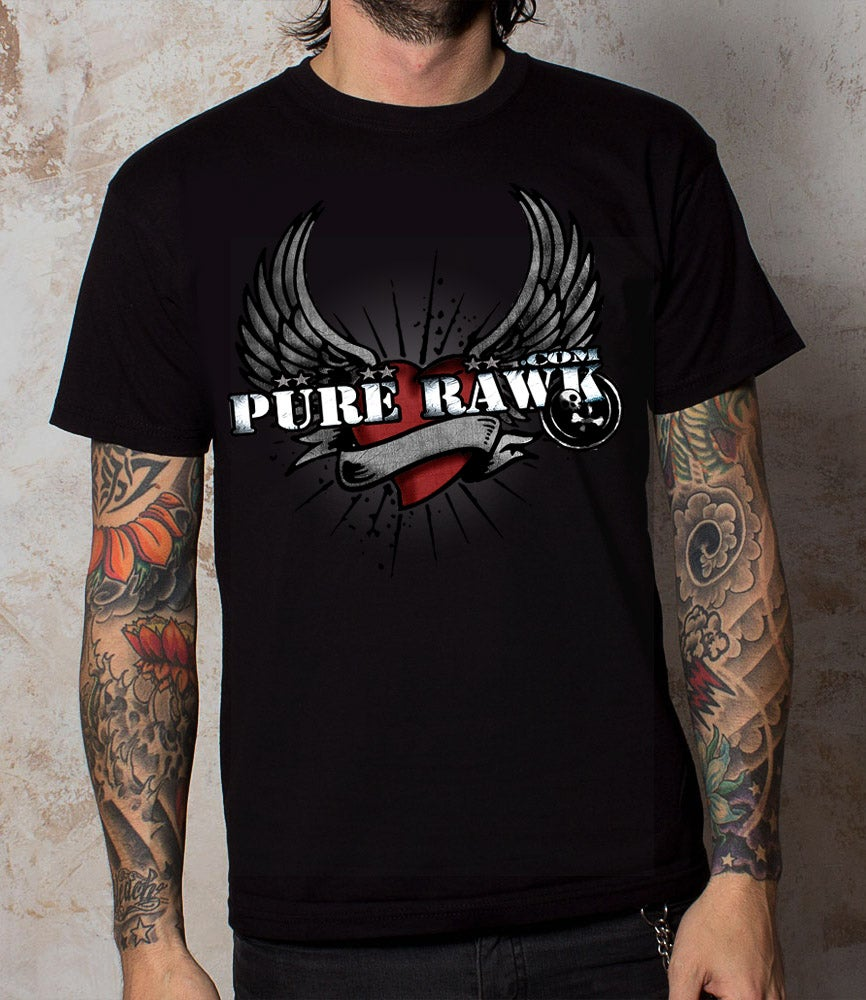 Image of Pure Rawk Winged Heart Tee