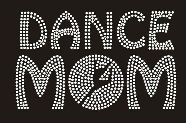 Image of cheer and dance mom  rhinestone t shirts