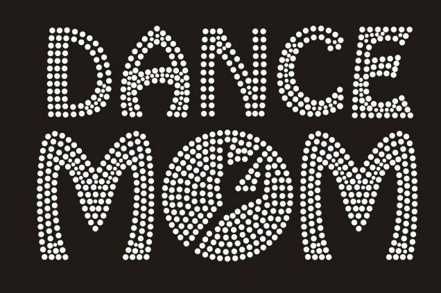 Image of cheer and dance mom  rhinestone t shirts