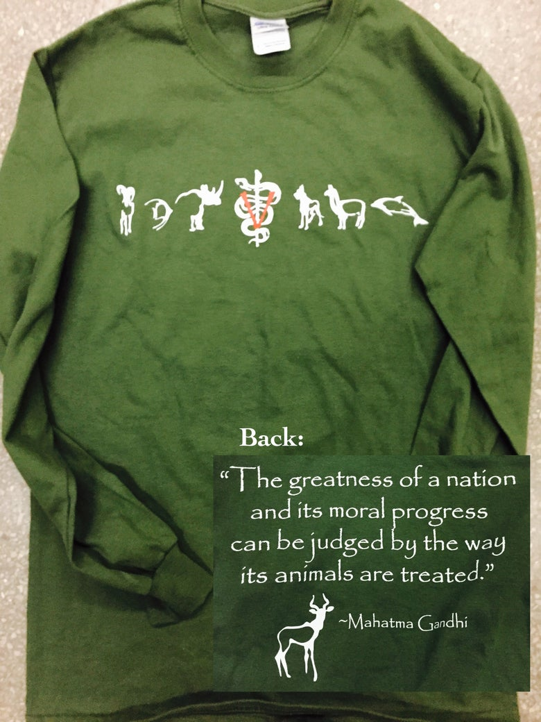 Image of Toxoplasma Ghandi LONG-SLEEVED T-shirt