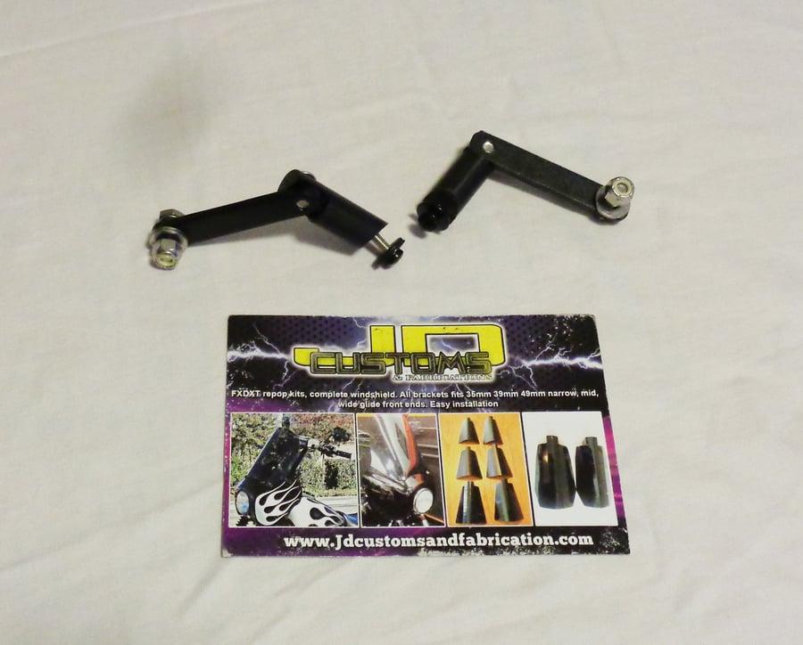 Image of FXDXT JD Custom Fairing  Windshield Adjuster Arms