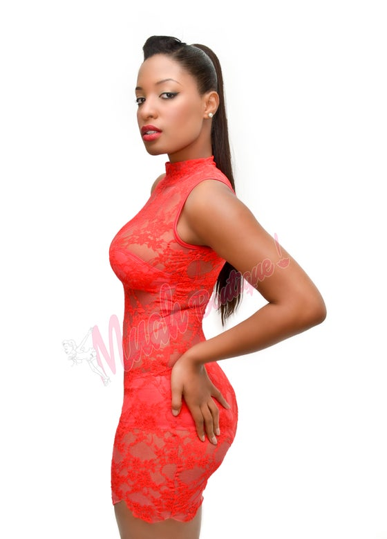 Image of Red flame romance dress set