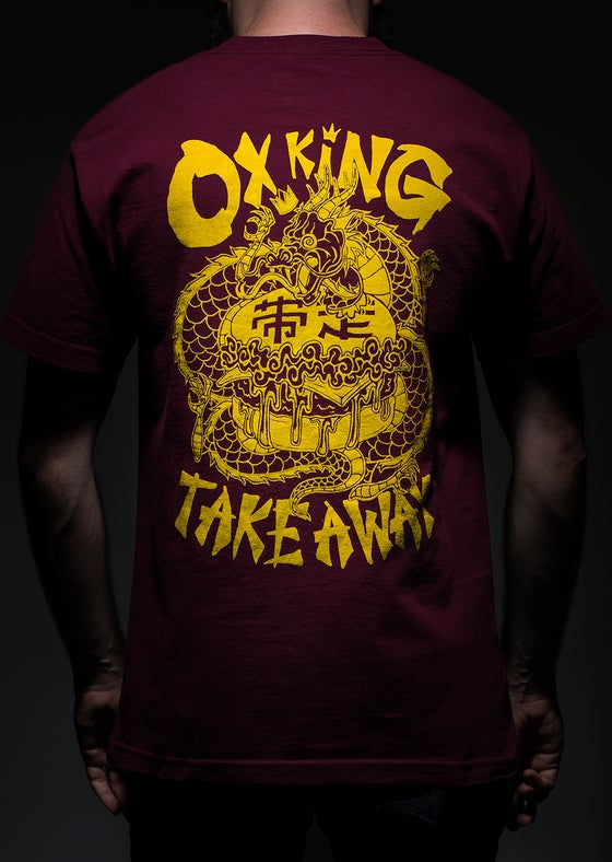 Image of OXKING TAKEAWAY Maroon tee