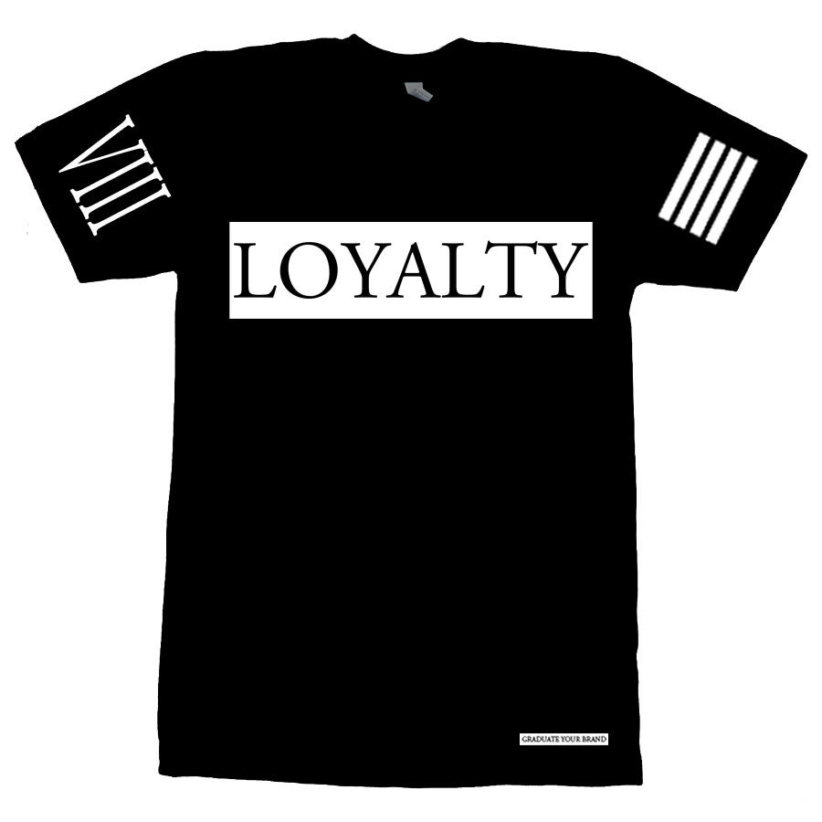 Image of (unisex) Loyalty Bar TShirt Ice Blue