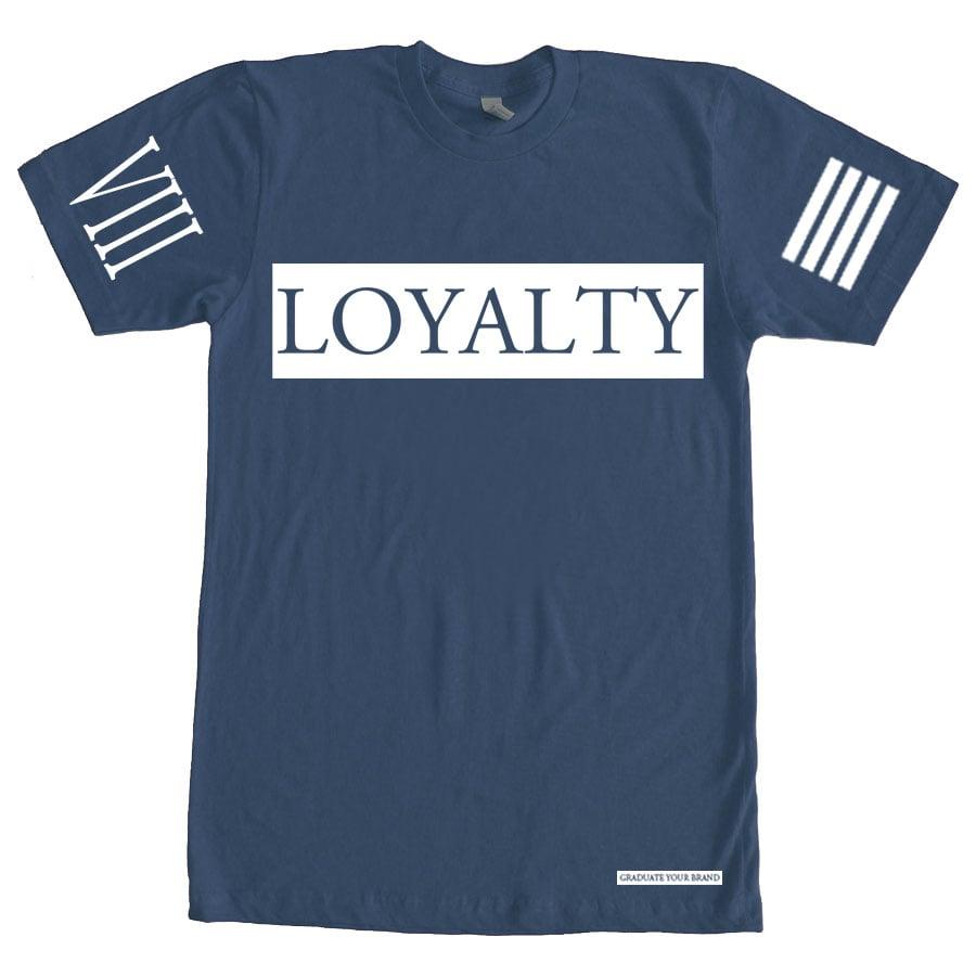 Image of (unisex) Loyalty Bar TShirt Ice Blue