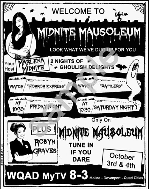 Image of Midnite Mausoleum -  Retro Style mini poster Signed and Numbered