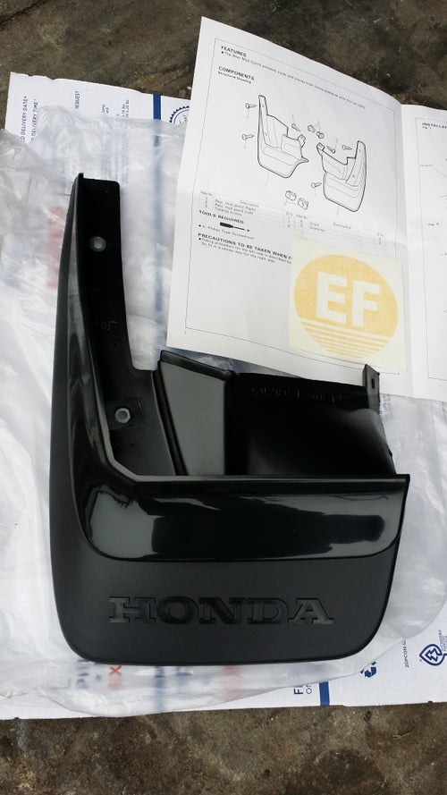 Image of Genuine Honda CRX Rear Splash Guard Set 1990-1991 SH2 OEM