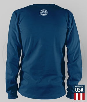 "Image of USMC - EGA ""HONOR. COURAGE. COMMITMENT."" Performance LS Shirt"
