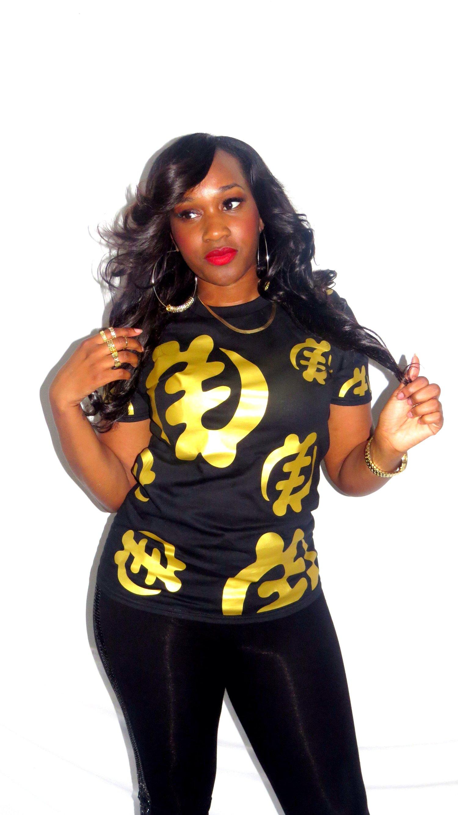 Image of Black/Gold Villi'age Tee