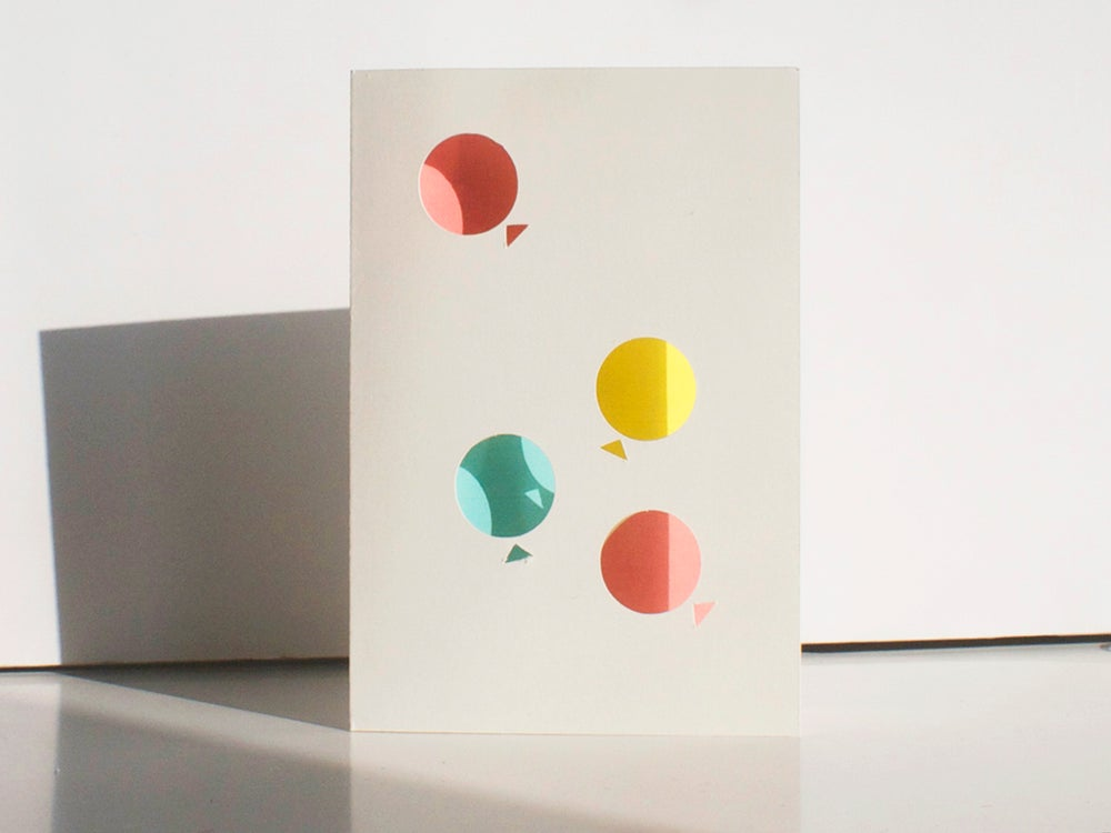 Image of 2 x Blow Balloons Cards