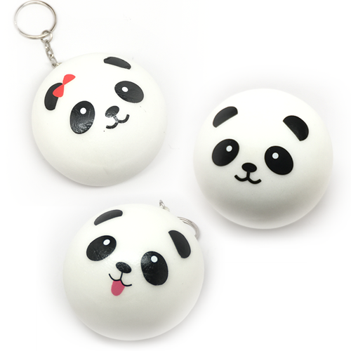 Image of Squishy Panda Bun with keyring