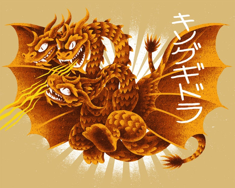 Image of DH001 - King Ghidorah