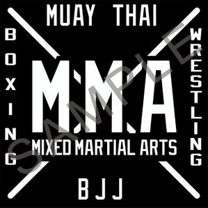 Image of MMA DECAL