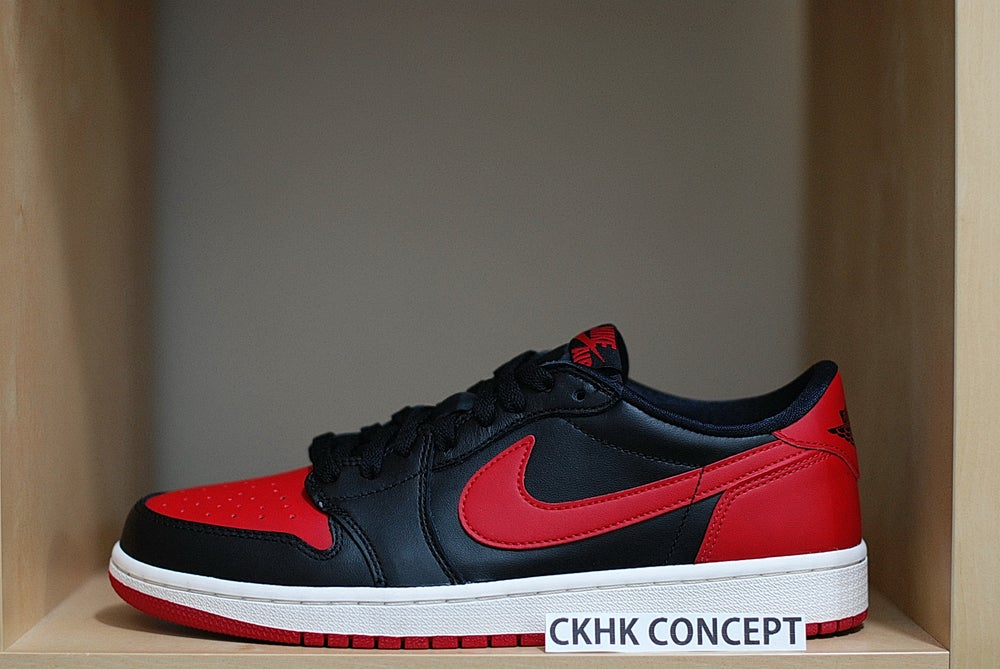 release date 454c8 cc611 Image of Nike Air Jordan 1 Retro Low OG  Bred  ...