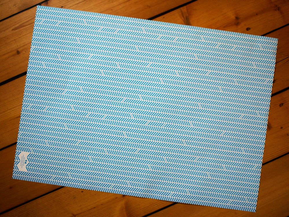 Image of 4 x Paper Herringbone Gift Wrap