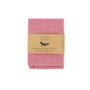 Image of Cherry Gingham Pocket Square