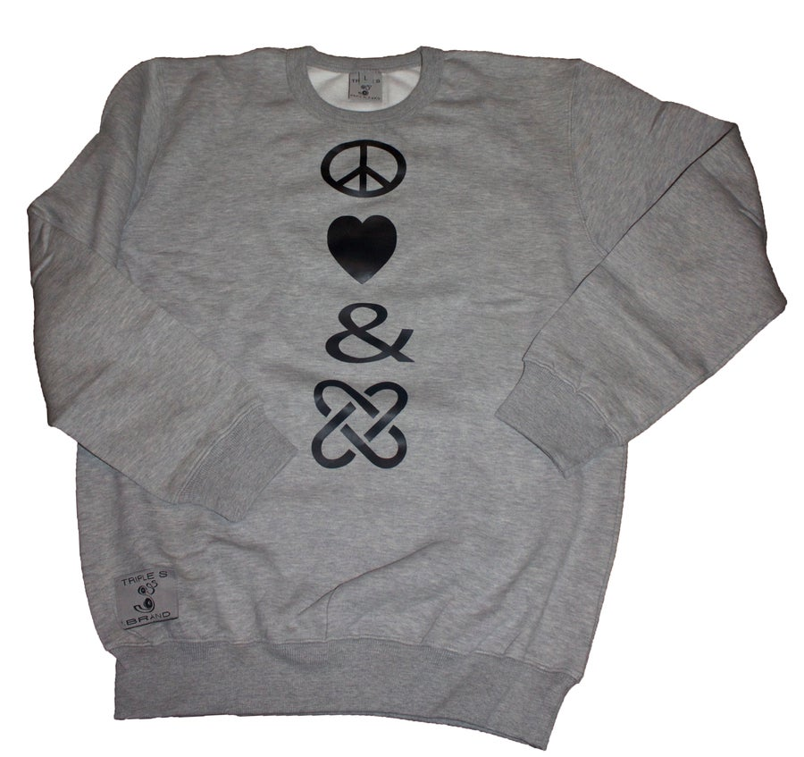 Image of Peace , Love & Unity Sweatshirt (mens)