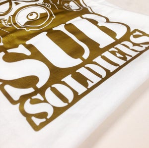 Image of Sub Soldiers White/Gold Mens T-shirt