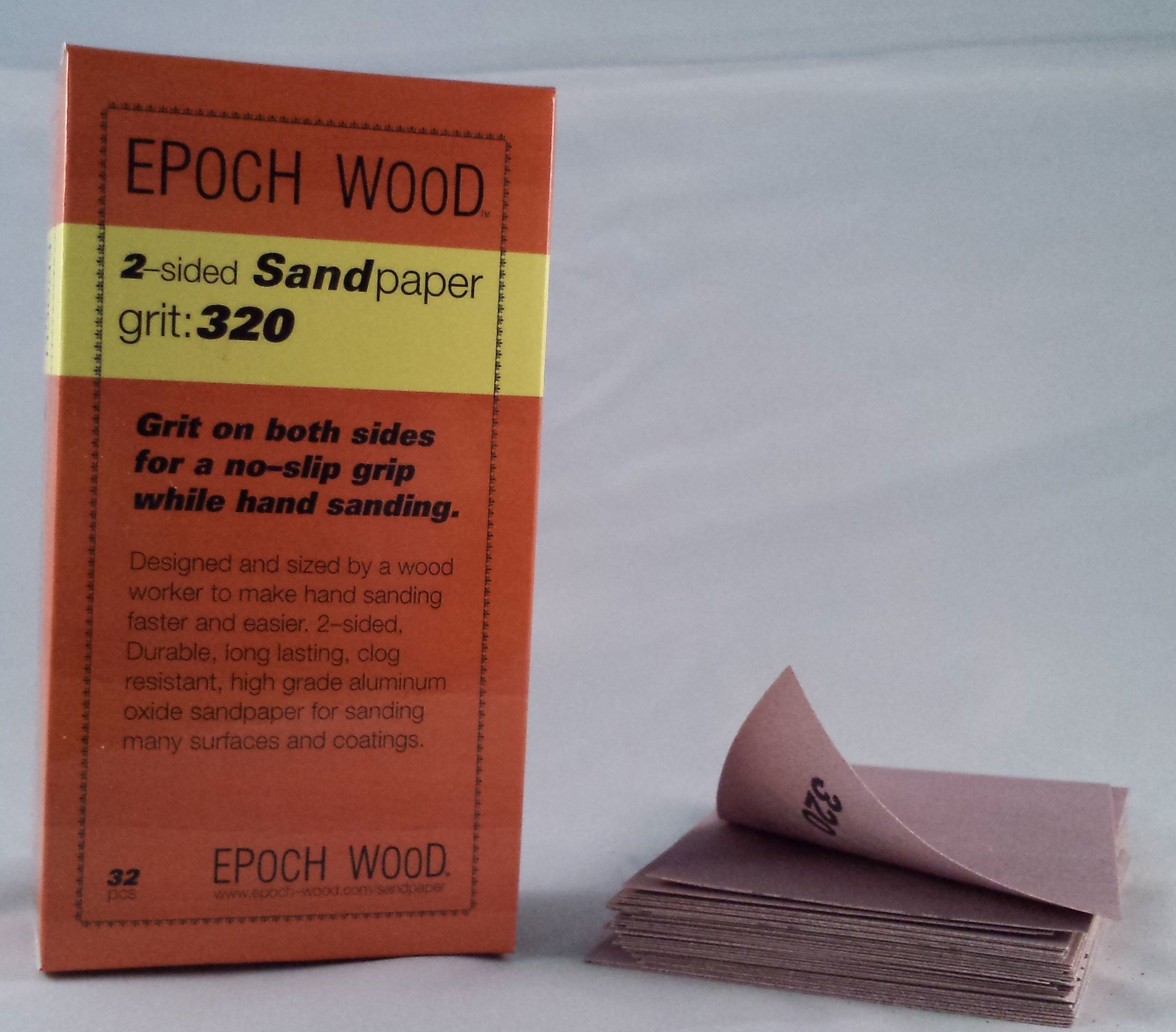 320 grit, 2-sided sandpaper, 32 pcs.
