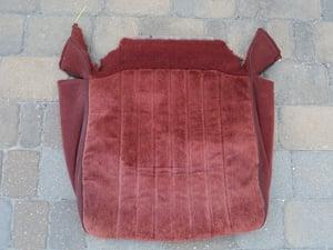 Image of Caprice passenger bottom seat cover oem original burgandy or blue
