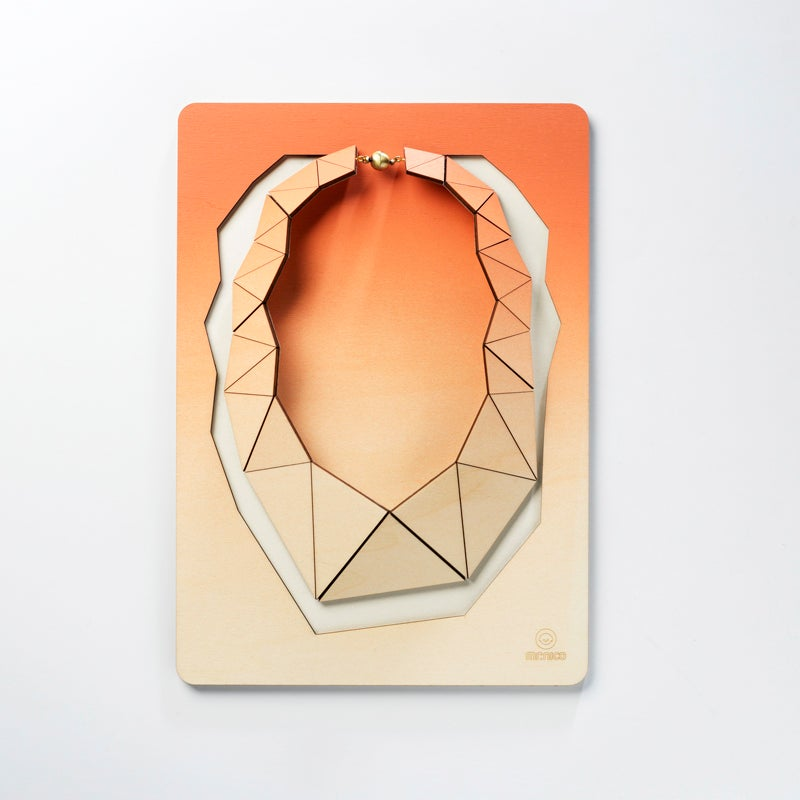 Image of Facets necklace 007 peach