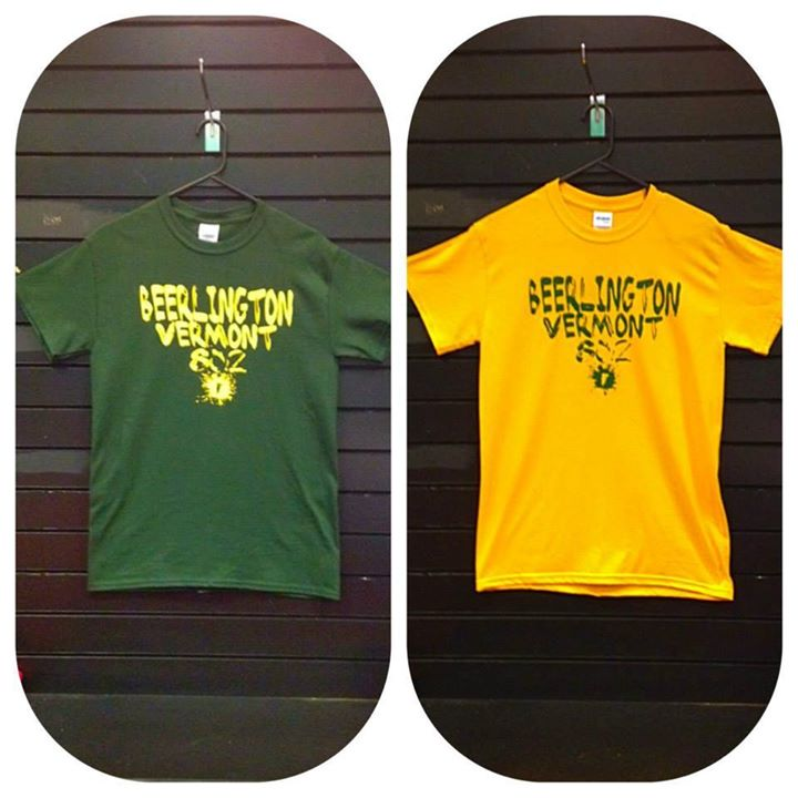 Image of Beerlington Tee in Forest Green on Gold or Gold on Forest Green