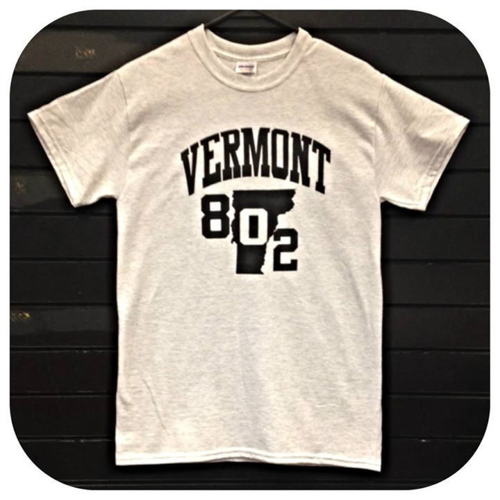 Image of 802 Vermont Arch on Ash Grey TShirt