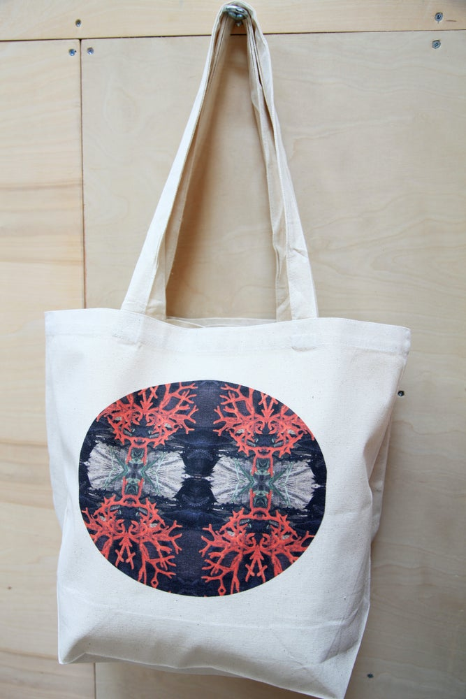 Image of Tote Bag:  Red Coral,  LAST ONE!