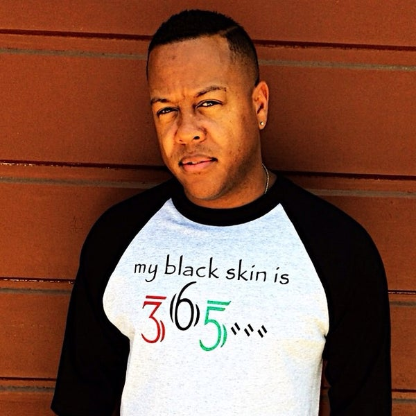 Image of my black skin is 365...