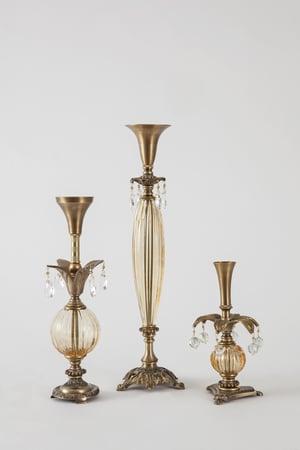 Amberesque Candlesticks - harlequin light