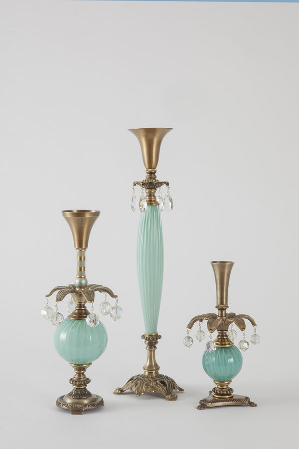 Luxuriant 1 Candlesticks - harlequin light