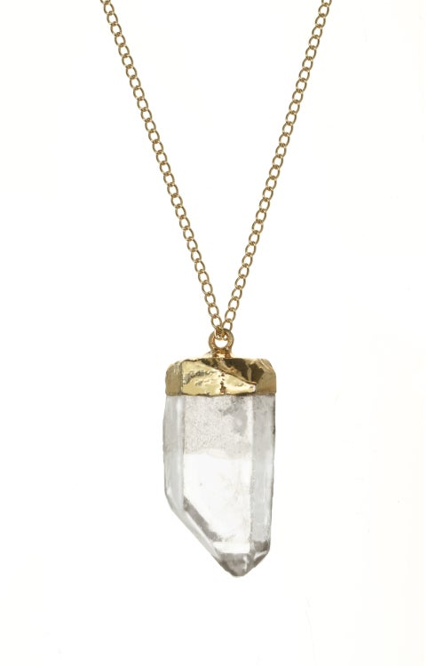 Image of GOLD DIPPED QUARTZ pendant