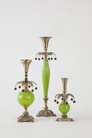 Delighter 1 Candlesticks - harlequin light