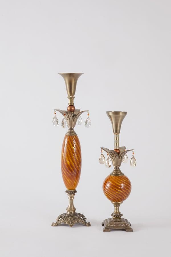 Dazzler 1 Candlesticks - harlequin light