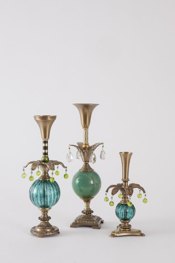 Luxuriant 2 Candlesticks - harlequin light