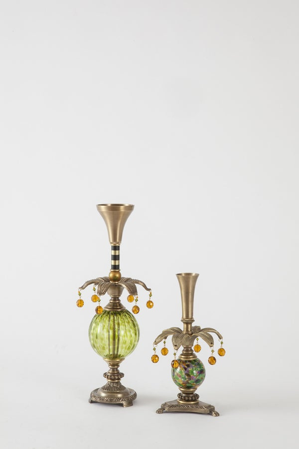 Delighter 3 Candlesticks - harlequin light