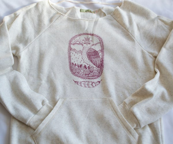 Image of +Little Owl King+ Eco Sweatshirt-Wheat