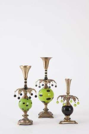 Jester 3, 4, 5 Candlesticks - harlequin light