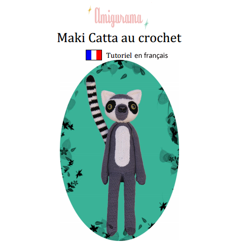 Image of Tutoriel Maki Catta au crochet au format PDF