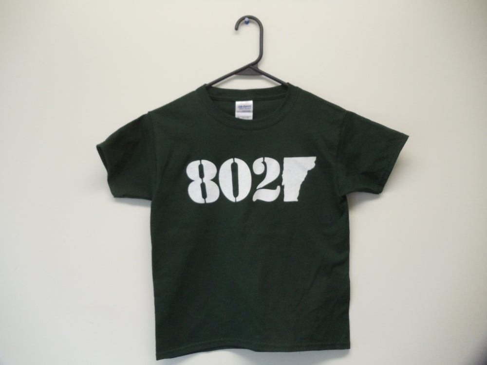 Image of Toddler & Kids (Youth) Vermont VT 802 Classic T-Shirt - White & Forest Green