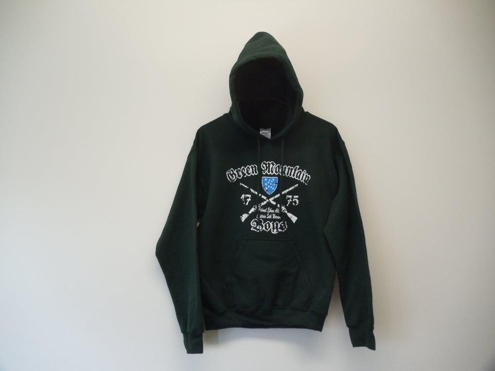 Image of Green Mountain Boys - Vermont Hooded Sweatshirt - Hoodie - Ethan Allen & Seth Warner