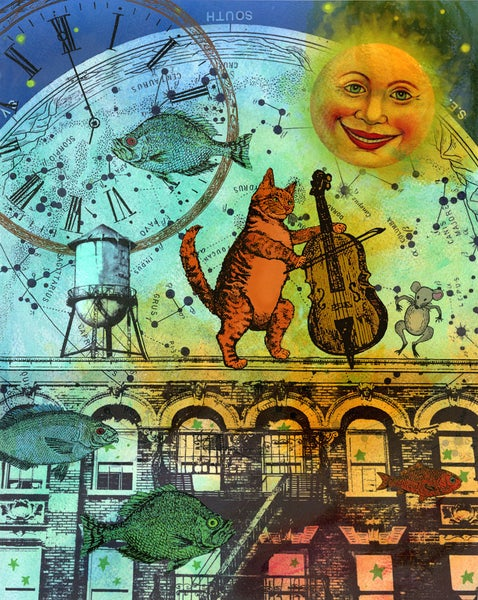 Image of Jazz Kitty and the Moon