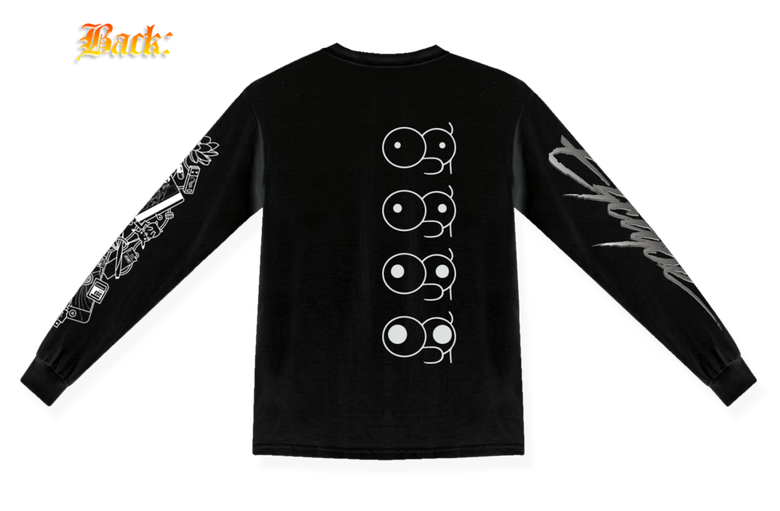 Image of EYE CANDY LONGSLEEVE BLK