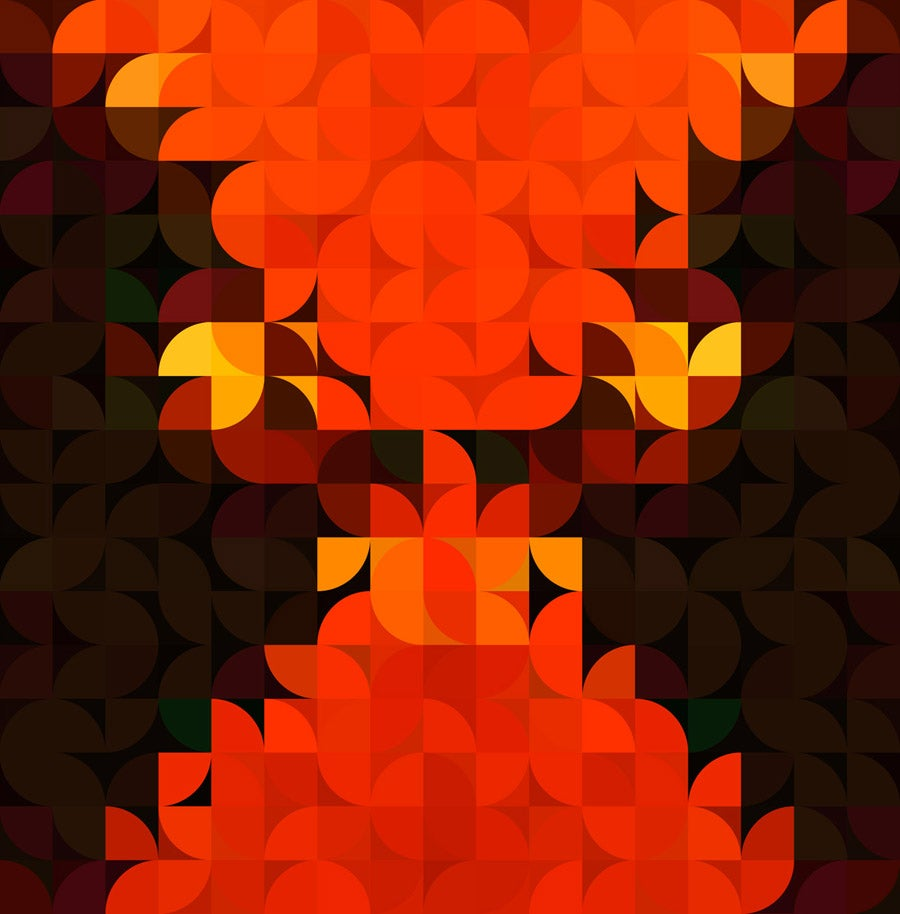 Image of Squint Prints Abstract Bulls