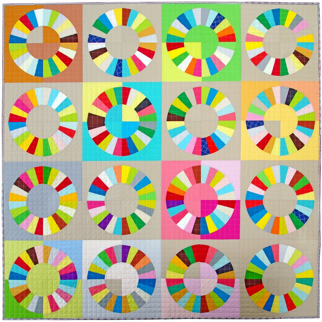 Color Wheel Block Foundation Paper Piecing Pattern Only