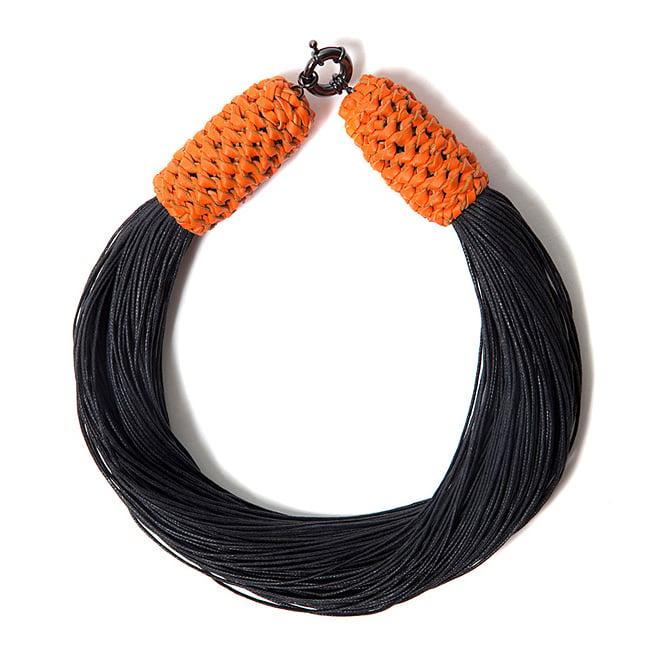 "Image of ""Tropics"" Black & Orange Neckpiece"