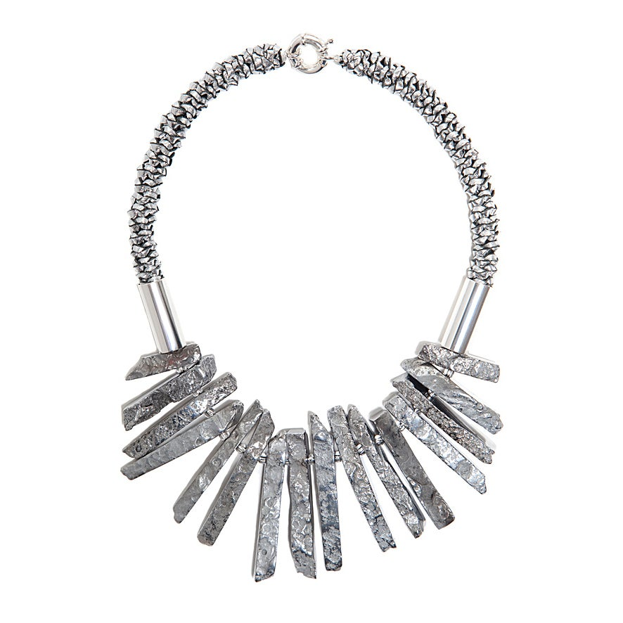 "Image of Silver ""Shard"" Neckpiece - 30% off Sale"