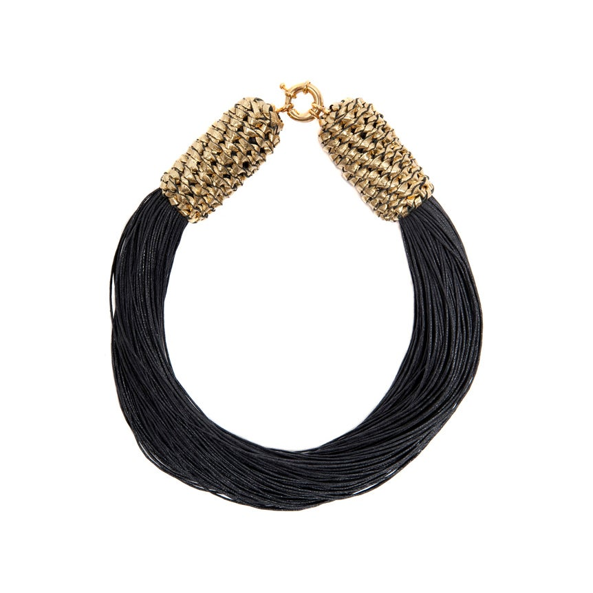 "Image of ""Tropics"" Gold & Black Neckpiece"