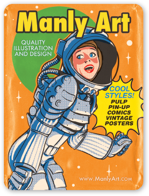 """Image of Manly Art """"Wax Pack"""" Sticker"""